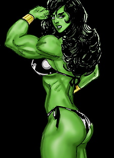 pics SuperPoser- Green With Lust- Hulk, big boobs , big cock