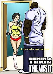 pics Runnin A Train  illustrated interracial, big cock , blowjob
