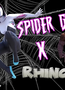 pics Megaparodies  Spider Gwen X Rhino, big boobs , monster