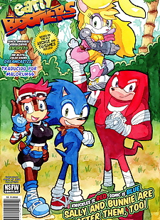 pics Early Boomers, sonic the hedgehog , bunnie rabbot , full color , furry  full-color
