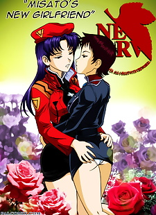 english pics Misatos New Girlfriend, shinji ikari , misato katsuragi , full color , transformation