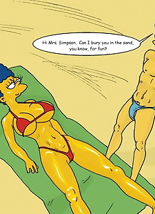 english pics Beach Fun, marge simpson , milhouse van houten , cheating , milf